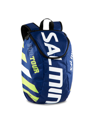 Salming Pro Tour Backpack, Navy/Safety Yellow, 18L