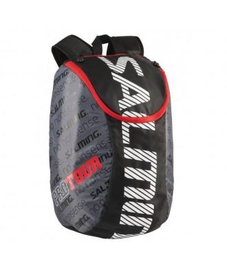 Salming Pro Tour Backpack, Black/Red, 18L