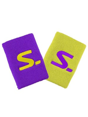 Salming Wristband 2-Pack purple/safety yellow